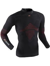X-Bionic Hombre Camisa funcional Man Energizer MK2 UW Tortuga Cuello - Negro/Rojo, S/M