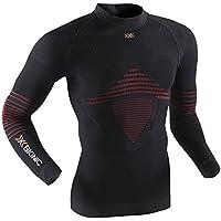 X-Bionic Hombre Camisa funcional Man Energizer MK2 UW Tortuga Cuello - Negro/Rojo, L/XL