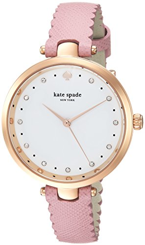 Kate Spade New York Womens Analog Japanese-Quartz Watch with Leather Calfskin Strap KSW1358