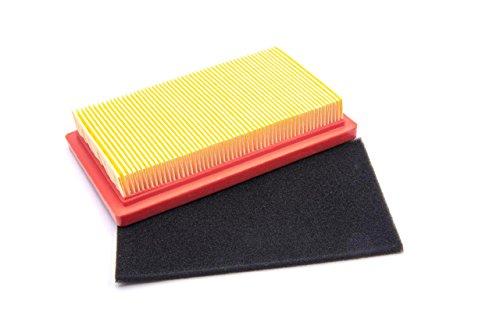 vhbw Luftfilter Set orange, schwarz für Rasenmäher Honda GVX 150, GVX 160, HR 1950, HR 2150, HRB 475, HRB 535, MTD 1P61 EH