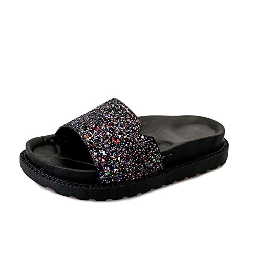 Ciabatte Da Donna,Indossando Un Elegante Flip Flops,Slip Flat Scarpe Da Spiaggia Antiscivolo A