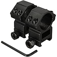 Bluelover B 25.4mm Anelli possibilità di Picatinny guida del tessitore Monte Nero 2pcs