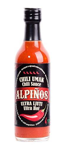 Volim Ljuto Alpinost Salsa Ultra Piccante (Trinidad Scorpion Moruga e Carolina Reaper Peperoncino 28%) 100 ml Calore 5/5