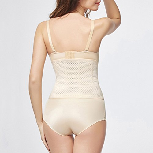 Zhhlaixing Hollow Design Fortified Maternal Postpartum Abdomen Waist Belt Laparotomy Repair Breathable Bandage Belly Wrap Bella forma del corpo per le donne Nude