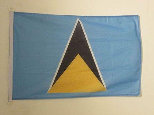 AZ FLAG BOOTFLAGGE ST. Lucia 45x30cm - Santa Lucia BOOTSFAHNE 30 x 45 cm Marine flaggen Top Qualität Lucia Boot