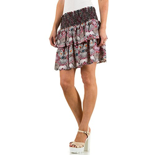 Damen Rock, JCL PRINT STRETCH ROCK, KL-61162 Lila