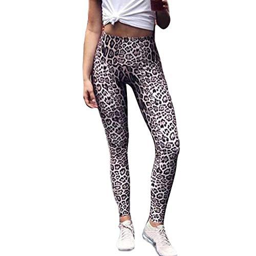TianWlio Leggings Damen Fitness Sport Leopard Druck Beiläufige Sport Yoga Trainings Gymnastik Übungs Hosen
