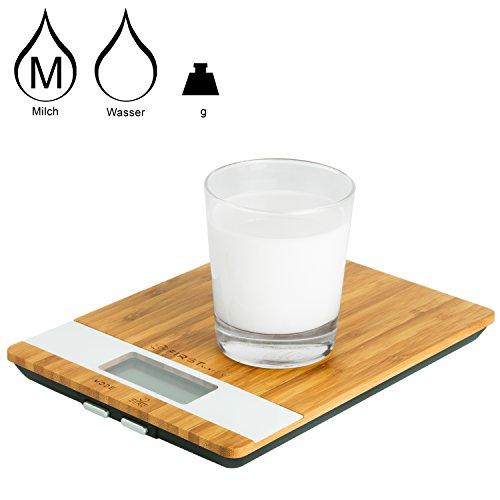 Digitale Küchenwaage aus Bambus - 2
