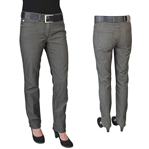 escada-damen-jeans-hose-grau-meliert-w40