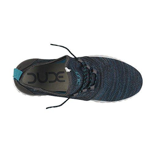 Dude Shoes Mens Renova Sox Grey Azur Urban Trainer Blue