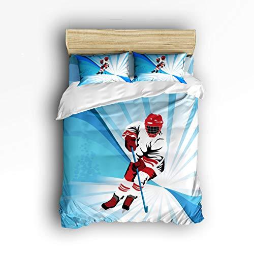 Fantasy Star Silhouette des Kleinen Mädchens mit Luftballons, 4-teiliges Bettwäsche-Set für Zuhause, bestehend aus 1 Bettlaken, 1 Bettbezug und 2 Kissenbezügen, Full Icemovement