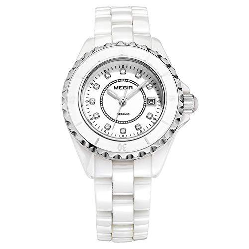 North King Quarz Uhren Datumsanzeige Damen Uhr Mode weibliche keramikuhr Quarz-Uhr Uhren für Frauen