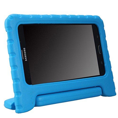 NEWSTYLE Samsung Galaxy Tab 4 7.0 Kinder Hülle Case mit umwandelbarer Handgriff Superleichte Stoßfeste Schutzhülle Tasche Cover für Samsung Tab 4 SM-T230/T231/T235 (7 Zoll) - Blau (7 Zoll Tablet Tasche Für Mädchen)