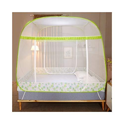 KMDB Bettnetze, dreitürige quadratische Bettnetze (Farbe : C, größe : 1.8 mx2m Bed)