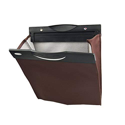 Kreative Autositz Multifunktions-Suspendierungs-Speicher-Tasche, wasserdichter auslaufsicherer zusammenklappbarer Kunstleder-Abfall-Organisator (Kunststoff-papierkorb-taschen)