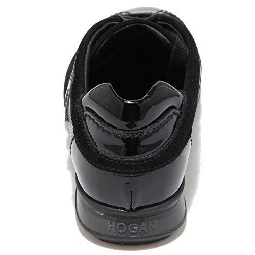 68437 sneaker HOGAN JUNIOR OLYMPIA FLOCK scarpa bimba Nero