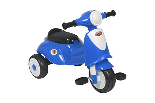 EZ' PLAYMATES ITALIAN SCOOTER KIDS TRICYCLE BLUE