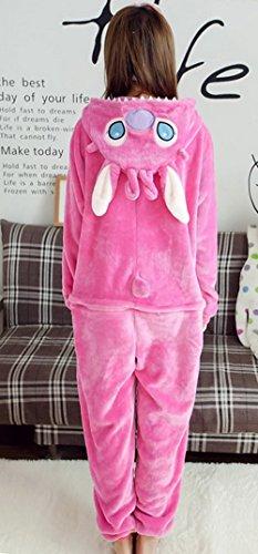 Y-BOA 1Pc Pyjama Combinaison Coton Femme Taille M Forme Stitch Rose
