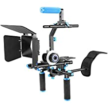 Neewer Kit Système Professionnel Rig DSLR Film Inclus Follow Focus Boîtier Mat Support Epaule Support en Forme C et Poignée Haute pour Tous DSLR Caméra et Vidéo Caméscopes