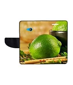 KolorEdge Printed Flip Cover For Microsoft Lumia 540 Multicolor - (50KeMlogo09383Lumia540)