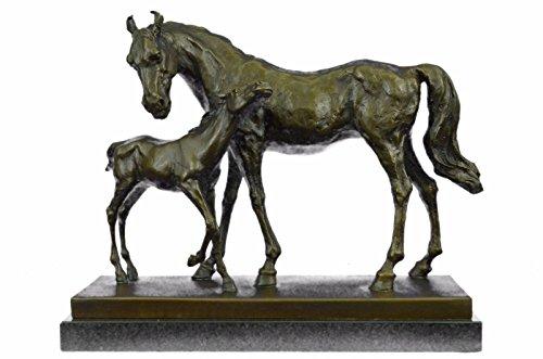 Statua di bronzo Scultura...Spedizione Gratuita...Cavallo Mare E Foal Signed Mene(YRD-253-JP)Statue Figurine Figurine Nude per ufficio e casa Décor Primo Giorno Collezionismo Articoli da regalo Vendi