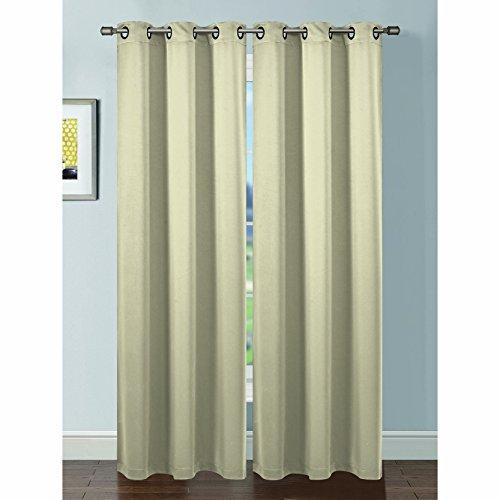 Bella Luna Ana Extra Breit Tülle Vorhang, verdunkelnd, gewebt (Window Covering Ideen)
