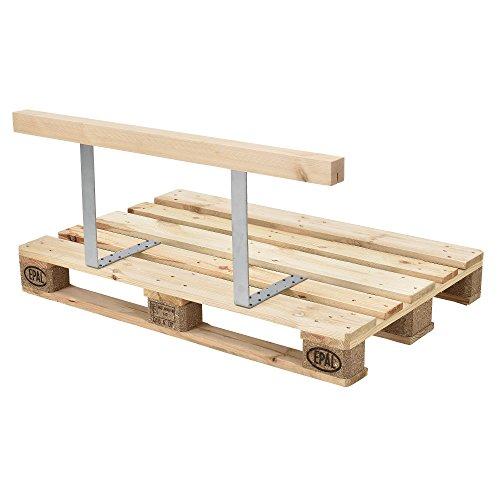 [en.casa] Rückenlehne für Euro-Paletten-Sofa massiv Holzoptik DIY Möbel - 3
