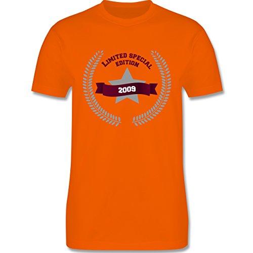 Geburtstag - 2009 Limited Special Edition - Herren Premium T-Shirt Orange