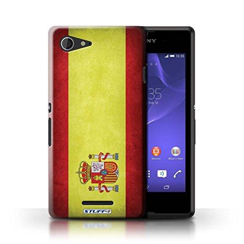 Kobalt® Imprimé Etui / Coque pour Sony Xperia E3 / Portugal/portugais conception / Série Drapeau Espagne/espagnol