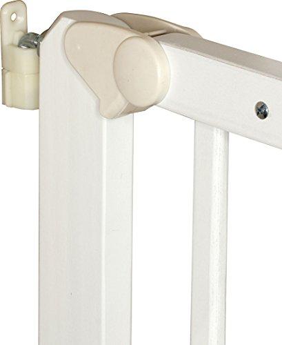 IB-Style – Treppengitter / Türgitter AUDIN weiss   71 – 108 cm & 79 – 126 cm   Klemmgitter Treppengitter Türgitter   2 Varianten wählbar   zum Verschrauben  öffnet wie ein Türchen   Verstellbar 71 – 108 cm - 4