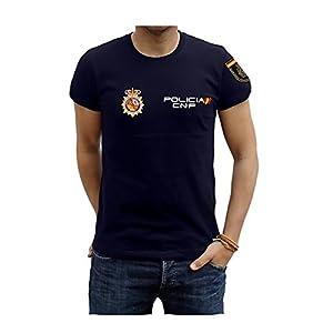 Piel Cabrera Camiseta de policia