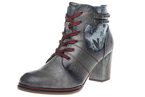 Mustang Shoes Stiefeletten in Übergrößen Grau 1287-504-2 große Damenschuhe, Größe:45