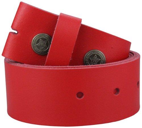2Store24 Echt Leder Wechselgürtel | Gürtel für Gürtelschnalle/Buckle in rot | Bundweite 100