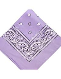 Violet pâle-Accessories bandana en coton Motif cachemire noir et blanc