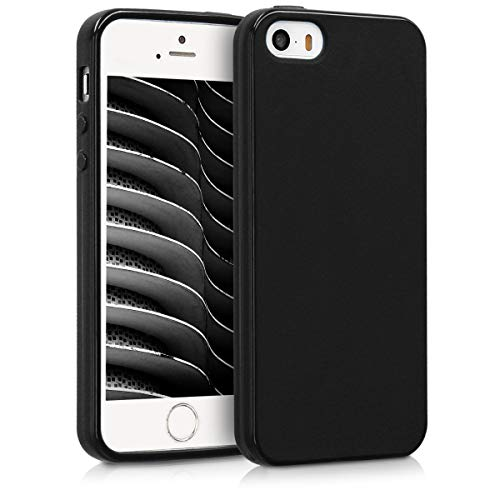 kwmobile Apple iPhone SE / 5 / 5S Cover - Custodia per Apple iPhone SE / 5 / 5S in Silicone TPU - Backcover Protezione Nero Matt