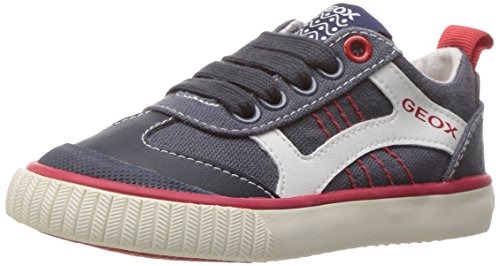 Geox Jungen Jr Kiwi Boy J Low-Top Blau (Navy/Redc0735)