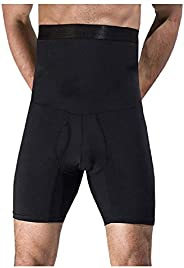Men High Waist Abdomen corset waist body shapers shorts Male Stretch Fitness Double Base layers Compression Ti