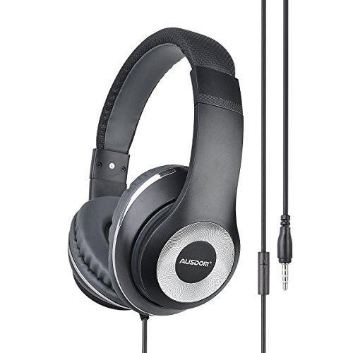 Ausdom F01 Leggero Cuffie Stereo Professionali Auricolari con Microfono  3 95628af3c99e