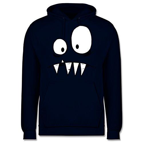 Kostüm Hoodie Kreatur - Shirtracer Karneval & Fasching - Monster Kostüm - XS - Navy Blau - JH001 - Herren Hoodie