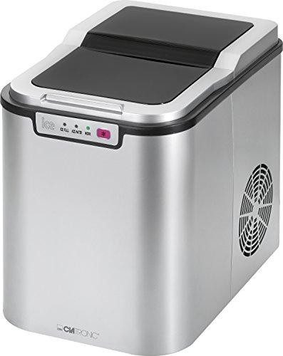 Clatronic EWB 3526 Máquina de Hacer Cubitos de Hielo, 10-15 kg, 24 Horas, 150 W, Plateado