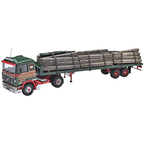 Corgi (Camions 1/50 Ème) CCC15505 Volvo F12 40' Flatbed and Load - H E Payne - Camión con carga