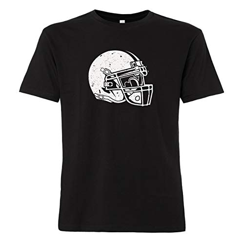 ShirtWorld - American Football Helm - Herren T-Shirt Schwarz 3XL