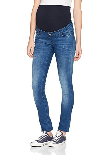 ESPRIT Maternity Damen Umstandsjeans Pants Denim Otb Slim W178C001, Blau (Medium Wash 960), W30/L32 (Herstellergröße: 38/32) (Umstandsjeans Hose)