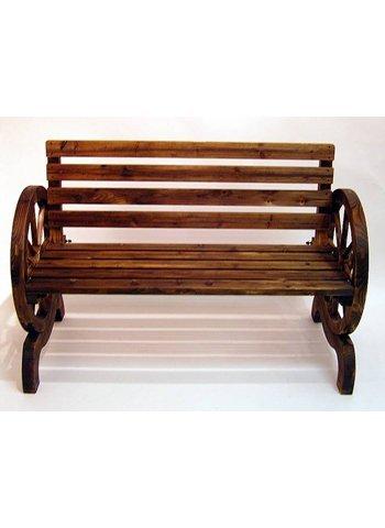 Holz Cartwheel Garden Bench