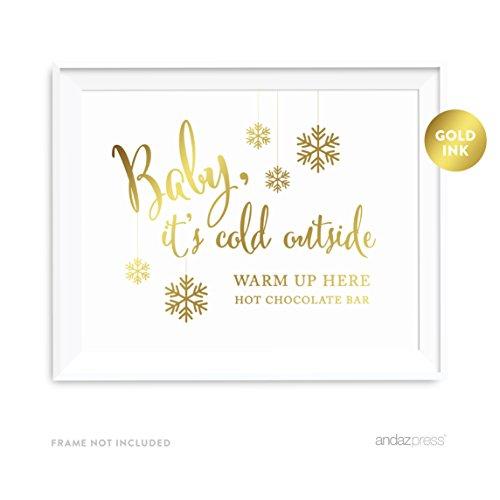 Andaz Press Hochzeits-Partyschilder, Metallic-Goldfarben, 1 Stück (Im Gold-verpackung Schokolade)