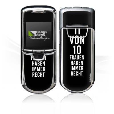 DeinDesign Nokia 8800 Monaco Case Skin Sticker aus Vinyl-Folie Aufkleber Lustig Frauen Sprüche