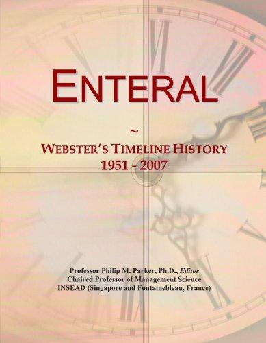 Enteral: Webster's Timeline History, 1951-2007