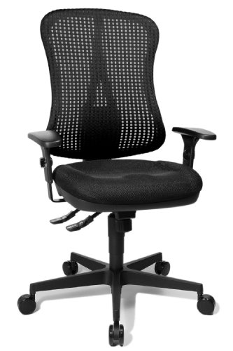 Best Saving for Topstar HE20PBC00E Head Point Comfort Swivel Chair with Contour Shaped Mesh Backrest Discount