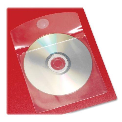 Kardinal HOLDit. selbstklebend CD oder DVD Taschen, 12,7x 12,7cm, transparent, 10Taschen Pro Tasche (21845) -