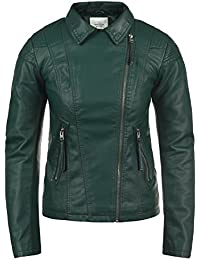 66cfa319 JACQUELINE de YONG Puya Women's Faux Leather Jacket Biker Jacket Made of Fake  Leather